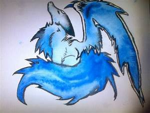 blue anime wolf with wings by passionforart672 on DeviantArt