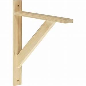 Equerre Etagere Bois : equerre solo bois brut naturel x cm leroy merlin ~ Premium-room.com Idées de Décoration
