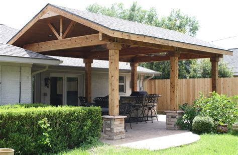 patio covers by increte of houston rustic patio