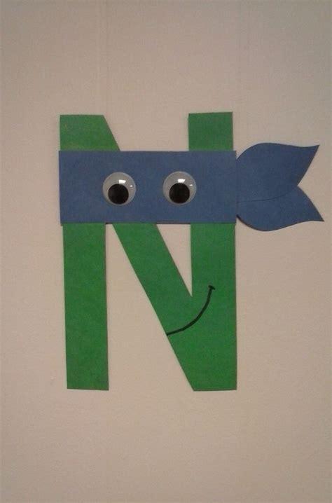 preschool letter n n is for ninja turtle alphabet