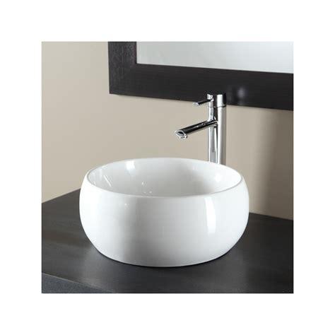 vasque porcelaine ou ceramique vasque 224 poser bol en c 233 ramique blanche 111091
