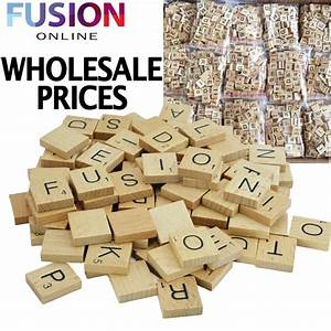 wholesale wooden scrabble tiles wood black letters board With wooden letter board