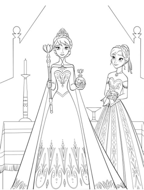 elsa coronation day coloring pages pinterest disney