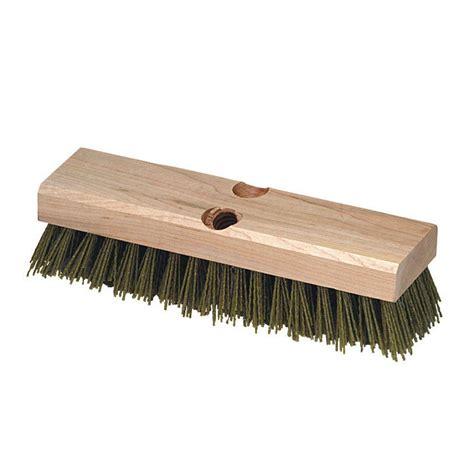 Deck Scrub Brush Home Depot by Carlisle 10 In Silicone Carbide Bristles Wood Block Deck