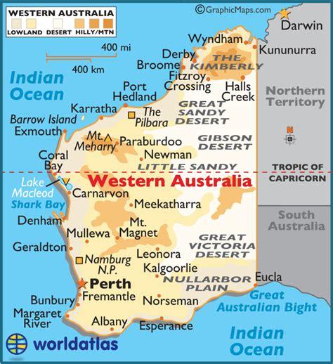 western australia large color map