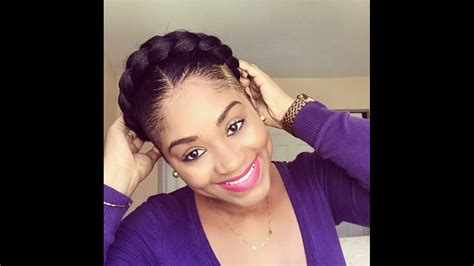 halo braid  short natural hair protective style youtube