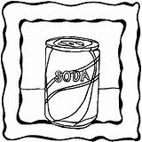 Soda Coloring Pages Drinks sketch template