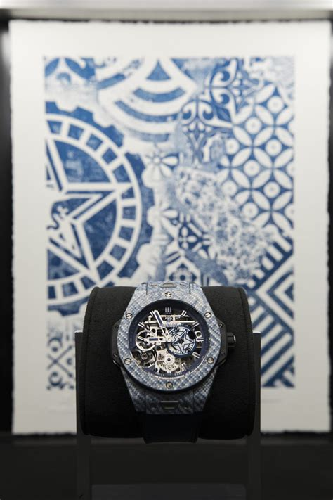 hublot big bang meca  shepard fairey watches  released