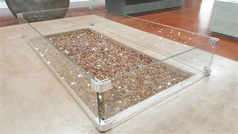 Your fire pit (or fire table) is a major investment and a centerpiece for your outdoor space. Fire Pit Glass Wind Guards - Rectangle 61x23 Inch