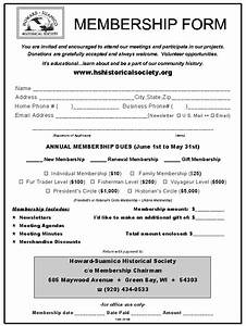 free church membership forms template With membership form template doc