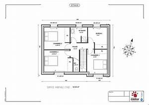 plan maison 100m2 a etage plan de maison avec mezzanine With plan maison a etage 100m2