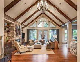 Inspiring Vaulted Ceiling Family Room Photo by 25 Best Ideas About Vaulted Living Rooms On
