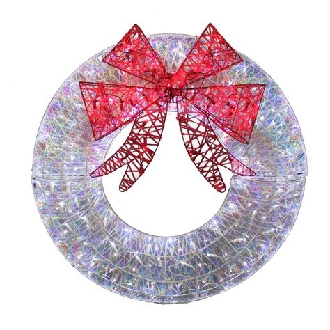holiday living 36 in white led christmas wreath lowe s
