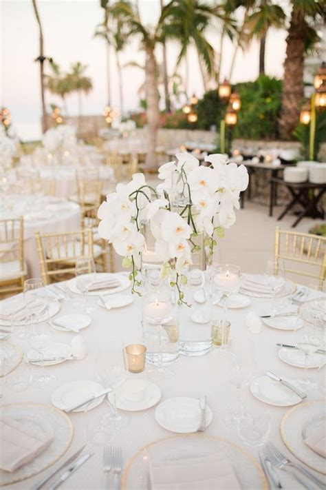 Lush Bold Tropical Wedding Centerpieces