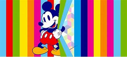 Mickey Mouse Rainbow Mural Panoramic Murals Wallpapers