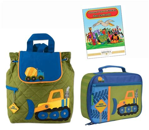 stephen joseph quilted backpack lunch box set toddler 618 | 821489585 o