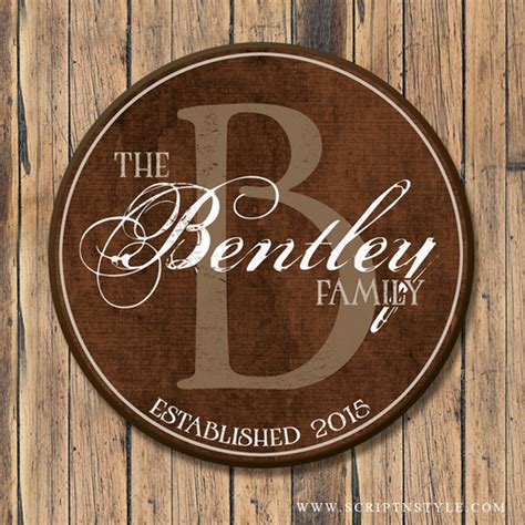 personalized family  wood sign  monogram
