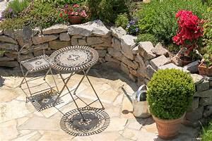 beautiful gartenideen mit naturstein images house design With feuerstelle garten mit balkon sideboard