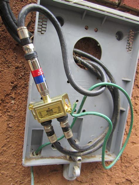 ysk   run  internet   coaxial cable