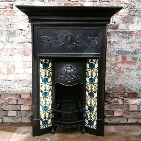 edwardian cast iron fireplace  sale  salvoweb
