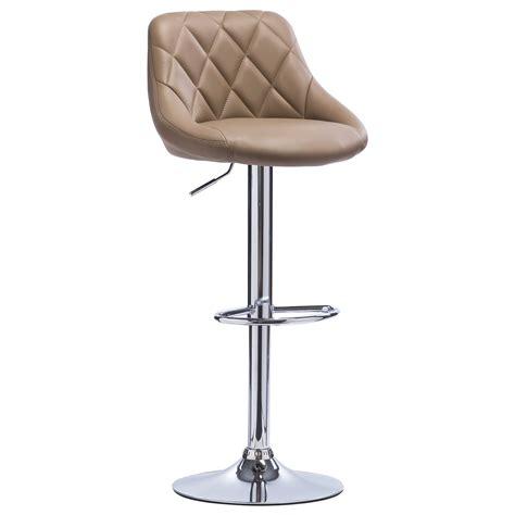 tabouret cuisine cuir 1 tabouret de bar pivotant à en cuir synthétique chaise