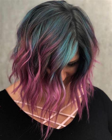 creative hair color ideas  medium length hair
