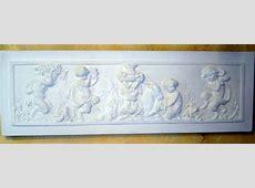 Fronton bas relief staff plâtre filasse moulage art deco