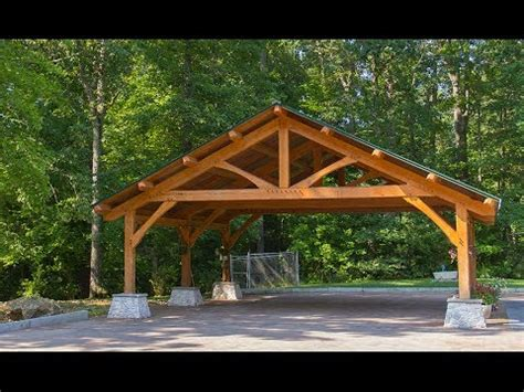 Wooden Car Ports by Wood Timber Frame Carport Build Part 2