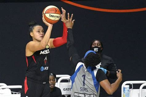 Aces beat Sparks, clinch double-bye into playoff semis ...
