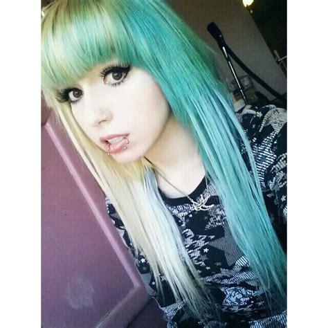Blue Hair Emo Hair Scene Hair Emo Girl Scene Girl