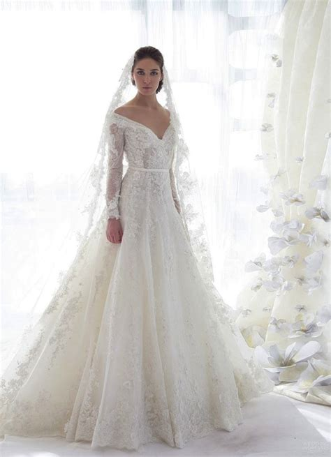 long sleeve lace wedding dress dressed up girl