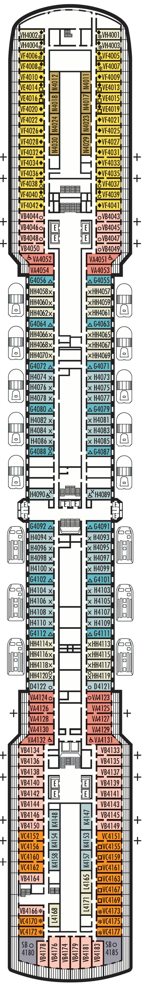 Hal Zuiderdam Deck Plans by Balcony Cabin 4130 On Zuiderdam Category Ej