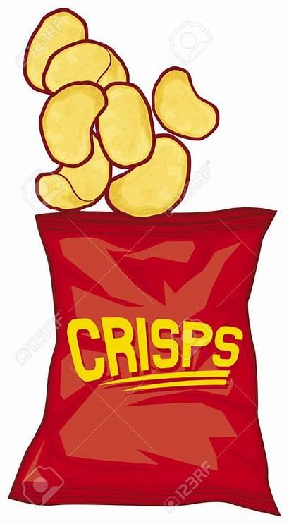 Chips Potato Clipart Bag Potatoes Cartoon Chip