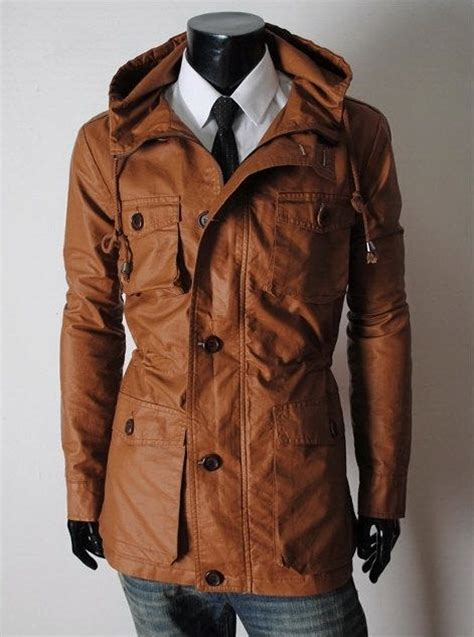 Men Long Pure Leather Jackets Handmade With