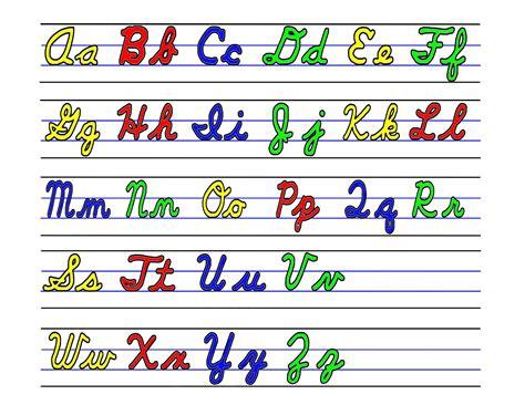 cursive letters az 2 cursive alphabet and lower breadandhearth 10336