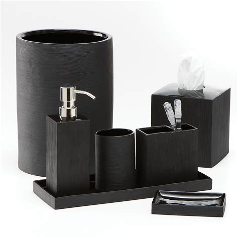 Modern Black And White Bathroom Accessories by Classic Look With White And Black Bathroom Accessories