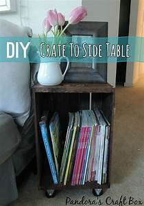 Easy, Side, Table, From, Wooden, Crate