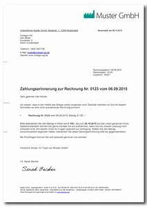 Rechnung Sofort Fällig Formulierung : zahlungserinnerung muster vorlage mit erkl rung ~ Themetempest.com Abrechnung