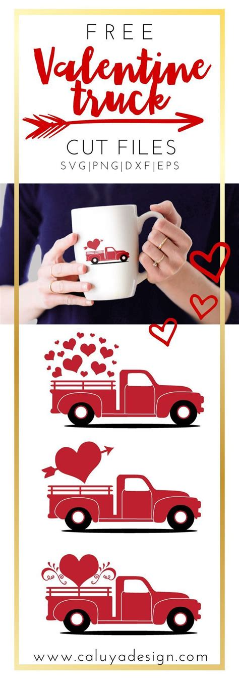 All freebies are available for just 24 hours, so download them fast before they expire. Valentine Heart Truck FREE SVG, PNG, DXF & EPS by | Free ...