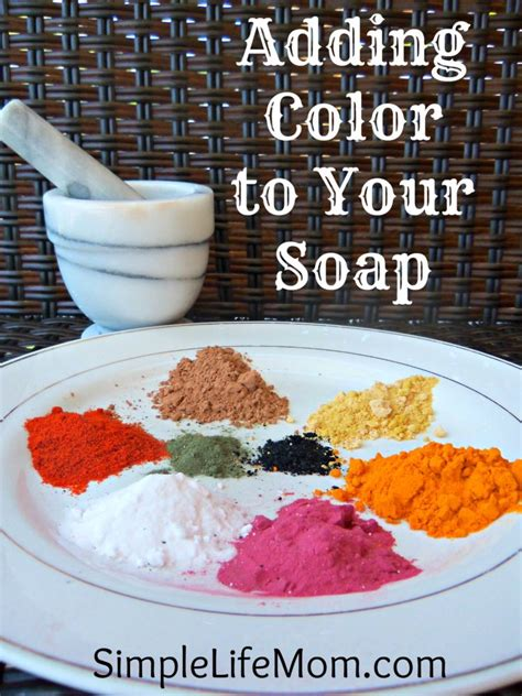 Adding Color To Homemade Soap Simple Life Mom