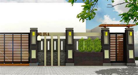 model pagar rumah minimalis modern terbaru