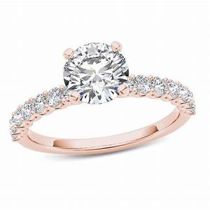 1 CT TW Diamond Engagement Ring In 14K Rose Gold Rose