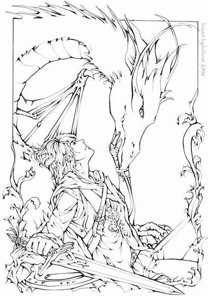 Coloring Last Dragon Deviantart Colouring Lineart Eragon