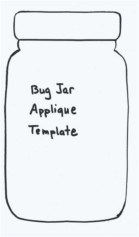 jar template 7 best images of printable jar template pattern bug jar quilt pattern template cookie jar