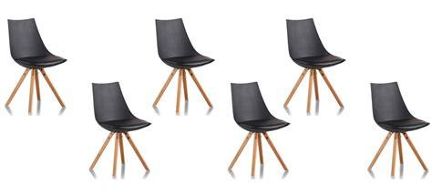 chaises discount lot de 6 chaises design garantie 2 ans satisfait ou