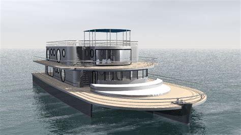 Trimaran Houseboat by Concept Boat Par Luc Simon Architecte Naval