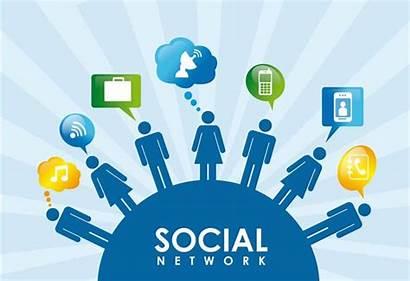 Social Network Vector Creative Cards