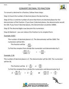 how do you turn decimals into fractions convert decimal to fraction