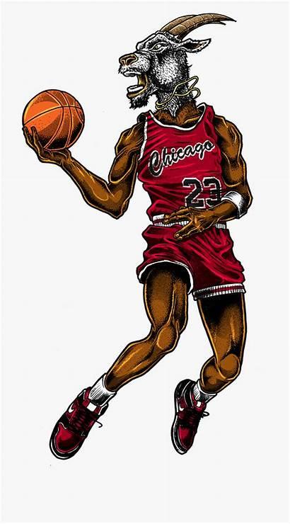 Jordan Michael Goat Clipart Dunk Slam Nba