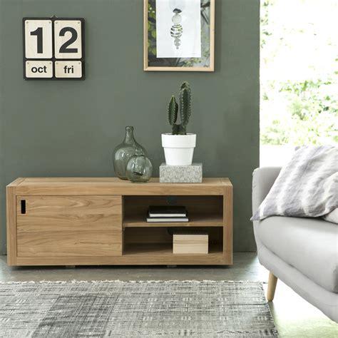 un bureau dans le salon meuble tv en teck naturel vente meuble pour tele adam